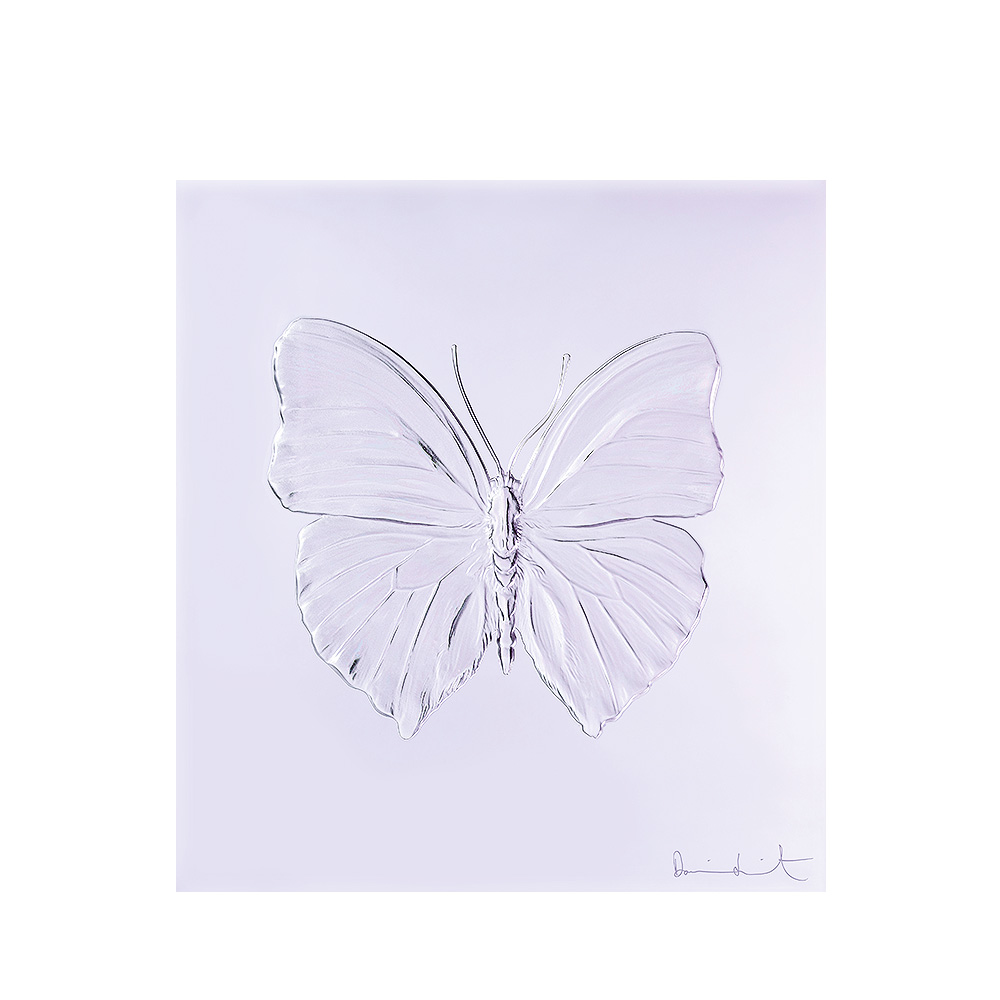 Eternal Love, crystal panel | Limited edition (50 pieces), lavender crystal | Eternal, Damien Hirst and Lalique