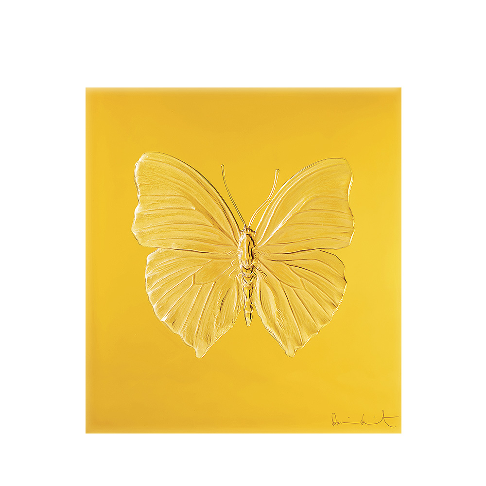 Eternal Love, crystal panel | Limited edition (50 pieces), amber crystal | Eternal, Damien Hirst and Lalique