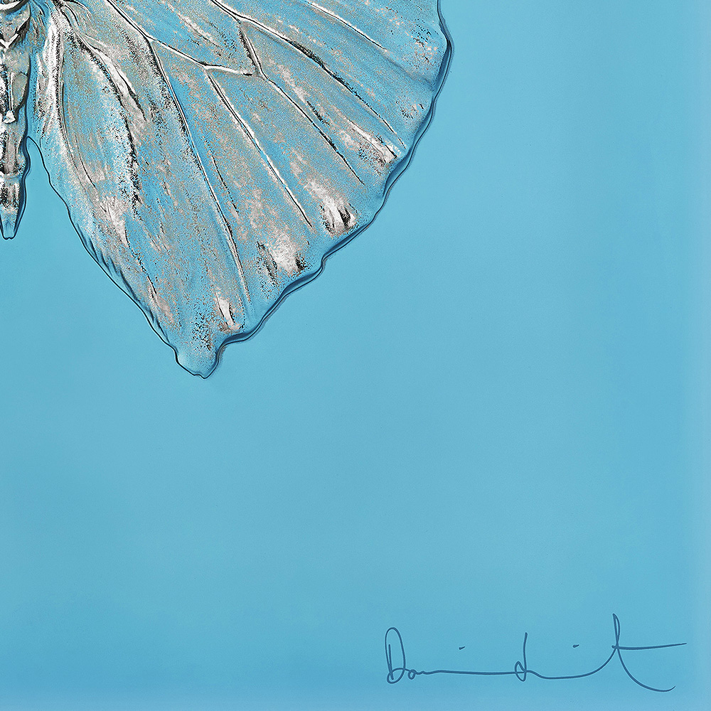 Eternal Love, crystal panel | Limited edition (50 pieces), turquoise crystal and platinum stamped | Eternal, Damien Hirst and Lalique