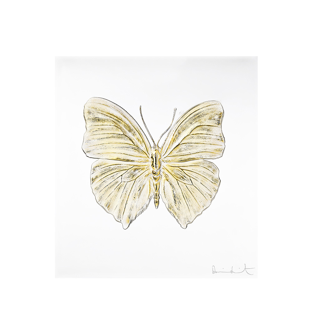 Eternal Love, crystal panel | Limited edition (50 pieces), clear crystal and gold stamped | Eternal, Damien Hirst and Lalique