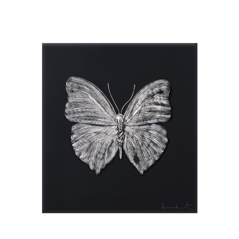 Eternal Love, crystal panel | Limited edition (50 pieces), black crystal and platinum stamped | Eternal, Damien Hirst and Lalique