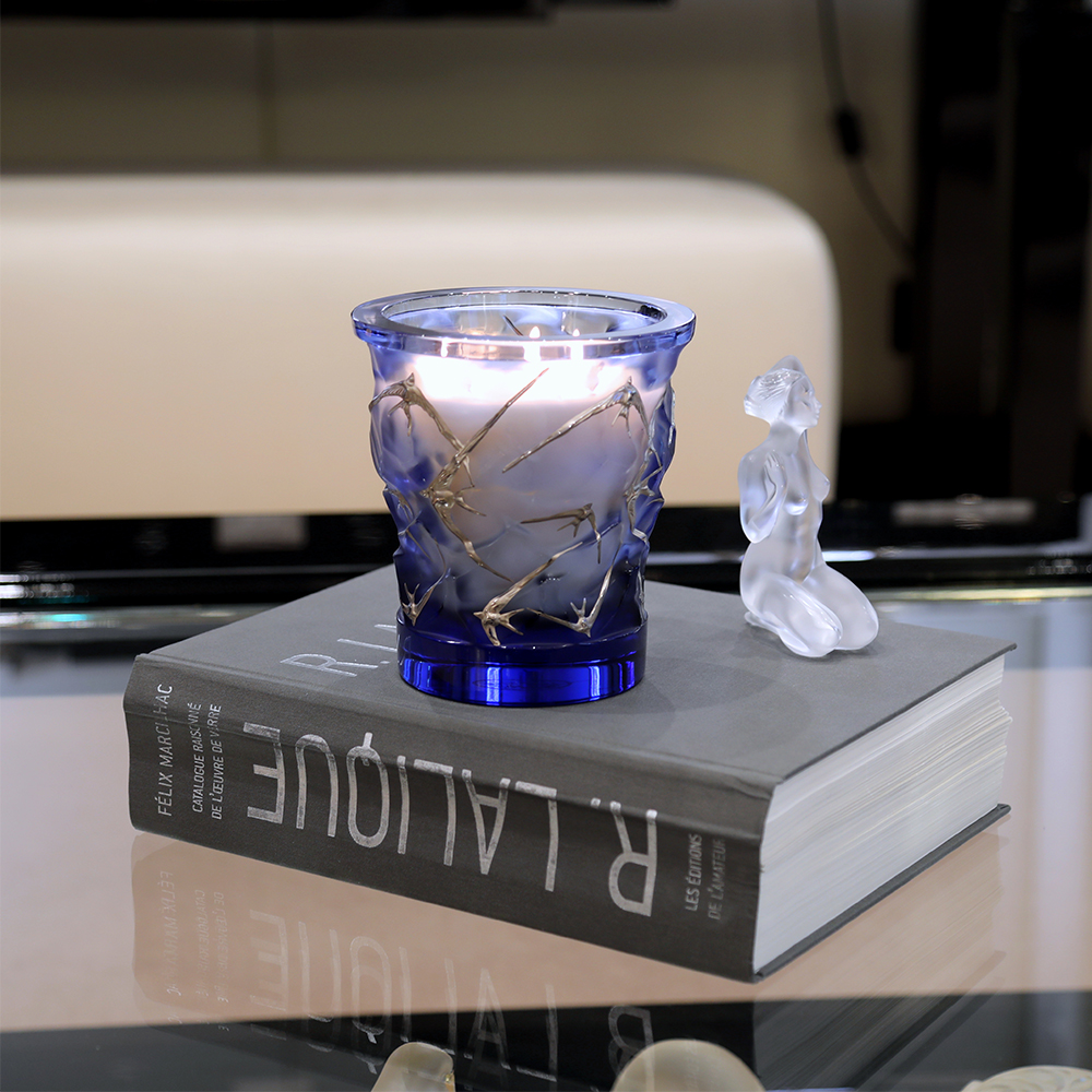 Hirondelles crystal scented candle | 750 g (26.5 Oz.) | Lalique Parfums