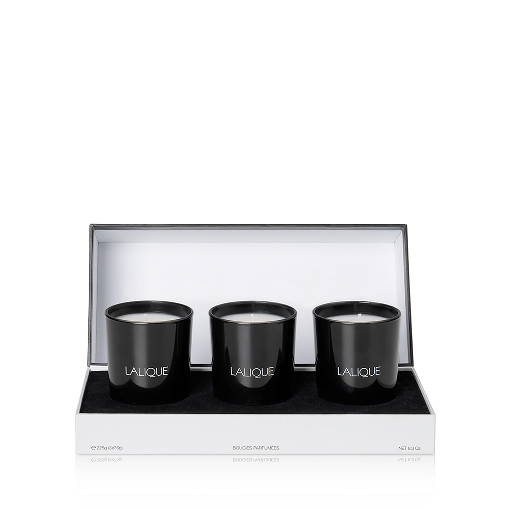 Oriental Treasures - Scented Candles Gift Set | Set of 3 candles 75 g (2.6 Oz.) | Lalique Parfums