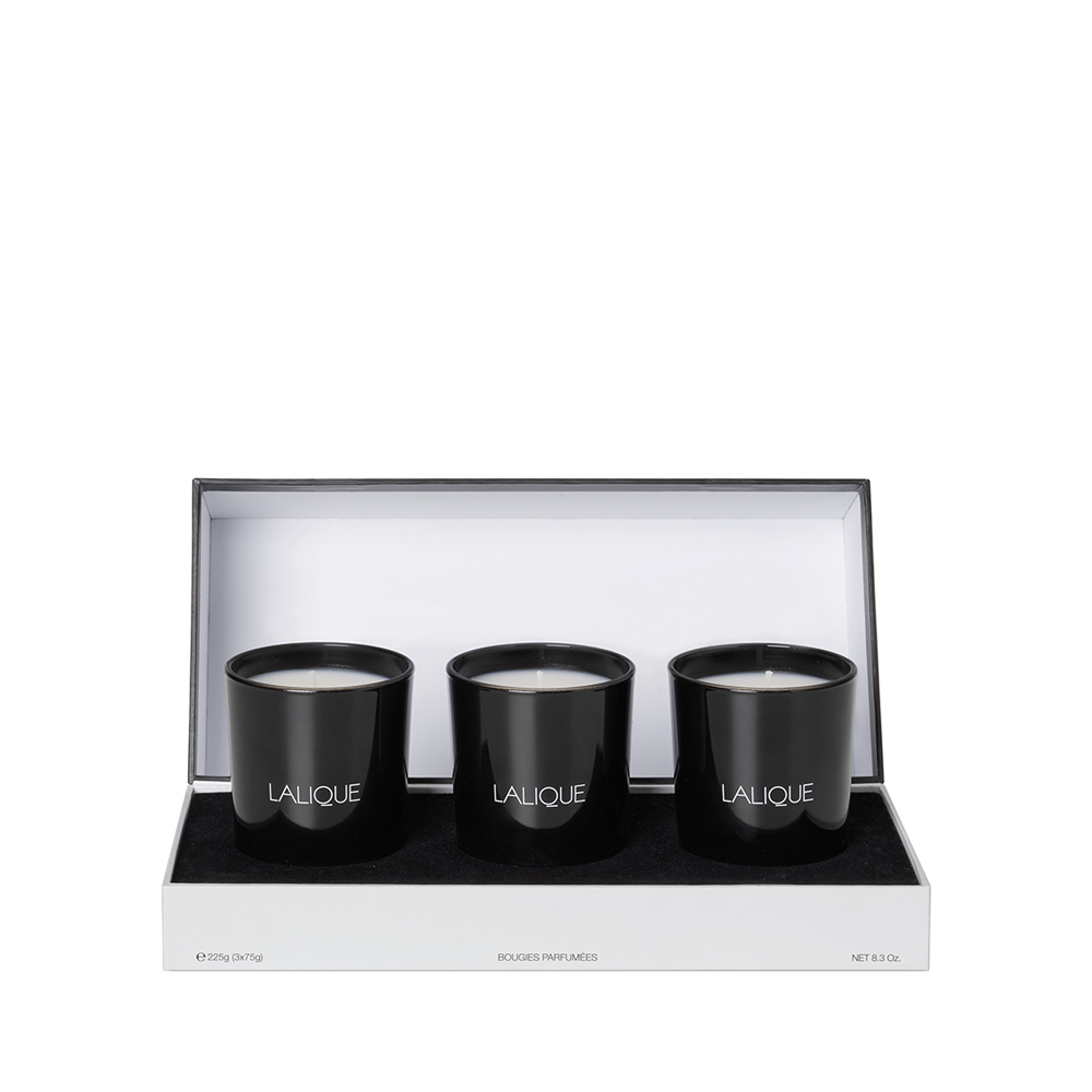 Asian Secrets - Scented Candles Gift Set | Set of 3 candles 75 g (2.6 Oz.) | Lalique Parfums