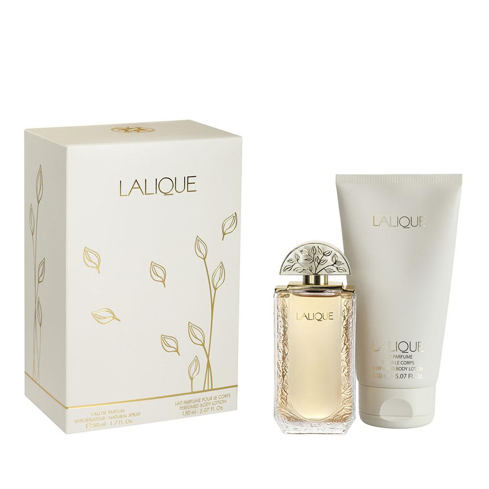 LALIQUE DE LALIQUE Gift Set | 50 ml (1.7 Fl. Oz.) Natural Spray Eau de Parfum and 150 ml (5.07 Fl. Oz.) Perfumed Body Lotion | Lalique Parfums