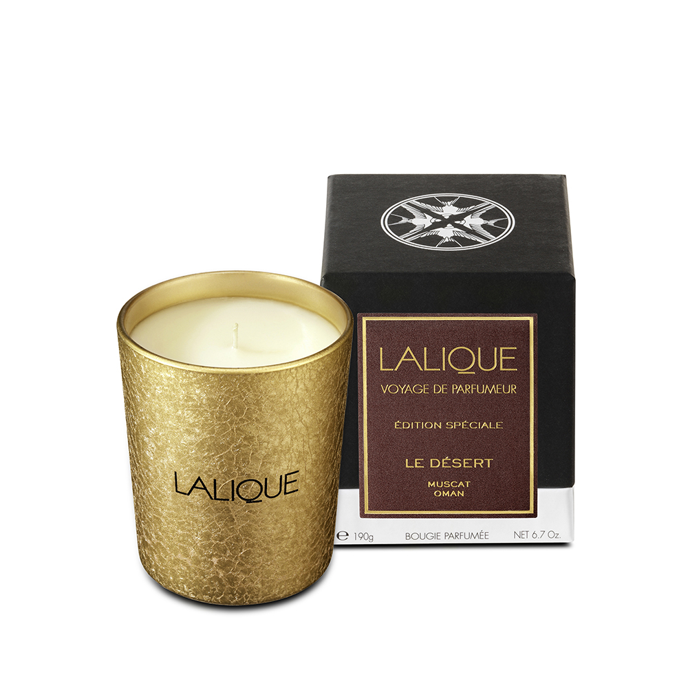 The Desert, Muscat-Oman, Scented Candle | 190 g (6.5 Oz.) | Lalique Parfums