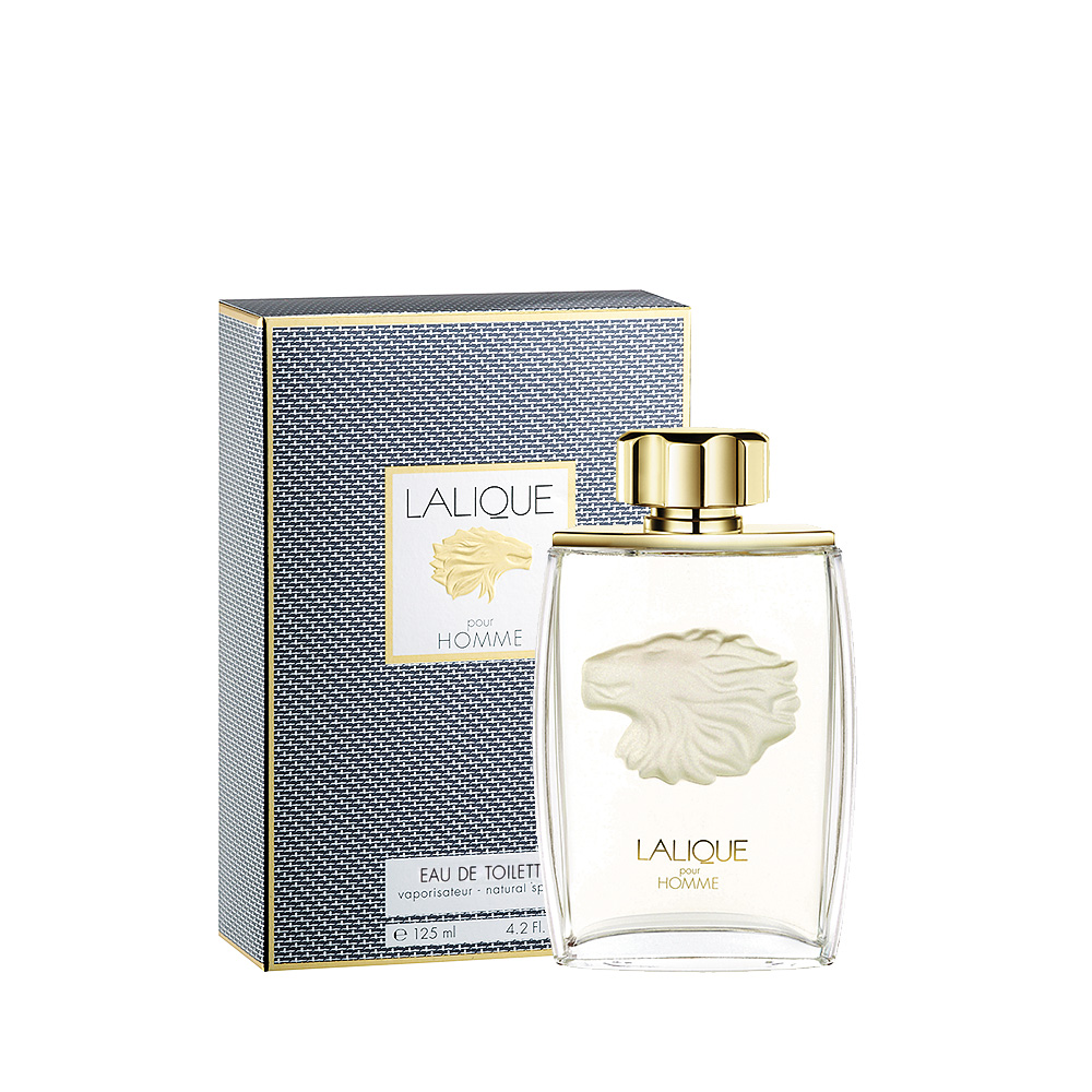 LALIQUE POUR HOMME LION Eau de Toilette | 125 ml (4.2 Fl. Oz.) Natural Spray  | Lalique Parfums