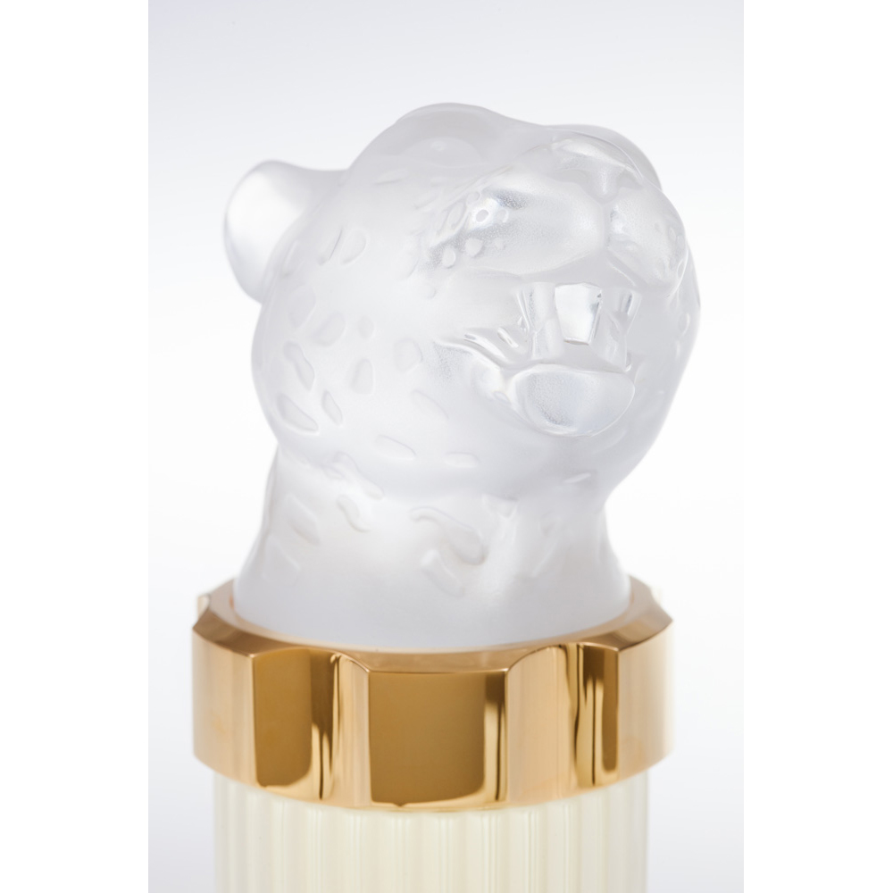 LALIQUE POUR HOMME LION Crystal Flacon | Limited, Numbered and Signed Edition 2004, 100 ml (3.3 Fl. Oz.) | Lalique Parfums