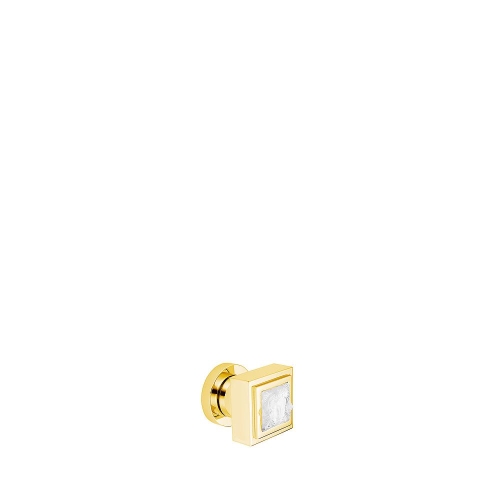 Poignée tournante Masque de Femme | Cristal incolore, finition chrome ou finition dorée, grand modèle | Interior Design Lalique