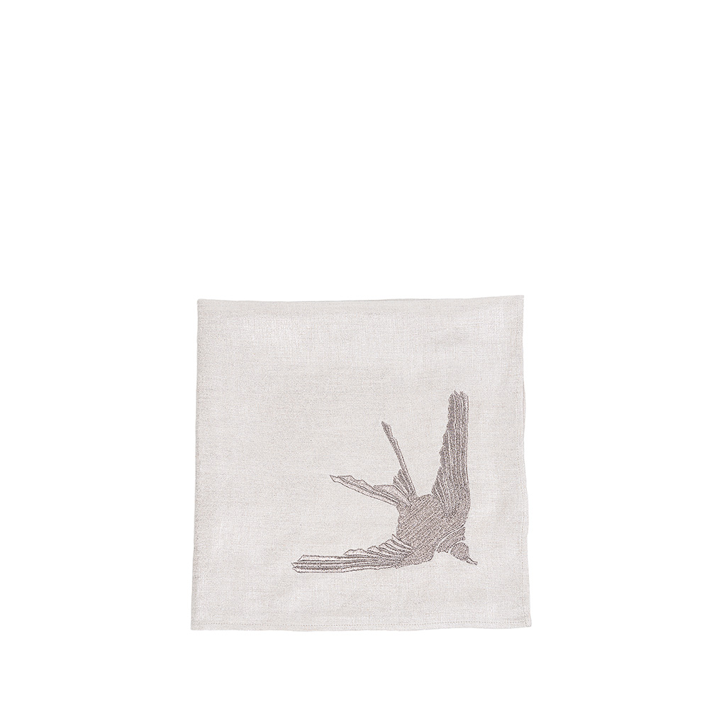 """1 Hirondelle"" embroidered napkin 