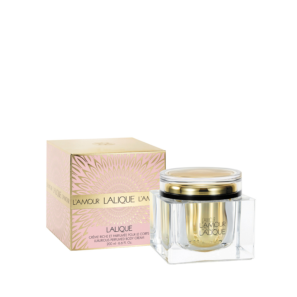 L'AMOUR Perfumed Body Cream | 6.75 Fl. Oz Jar (200 ml) | Lalique Parfums