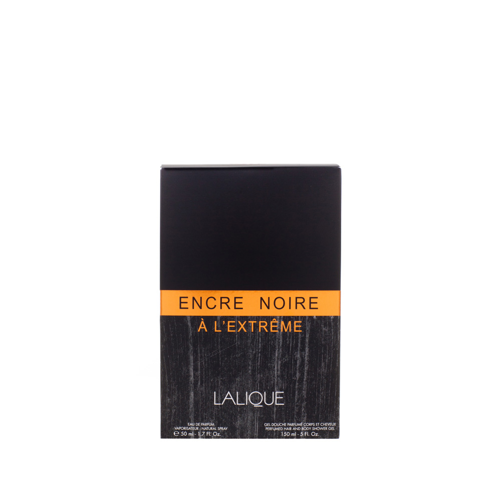 ENCRE NOIRE À L'EXTRÊME Gift Set | 50 ml (1.7 Fl. Oz.) Natural Spray Eau de Parfum and 150 ml (5 Fl. Oz.) Perfumed Shower Gel | Lalique Parfums