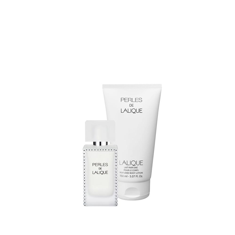 perles de lalique gift set 50 ml 1 7 fl oz natural spray eau de parfum and 150 ml fl. Black Bedroom Furniture Sets. Home Design Ideas