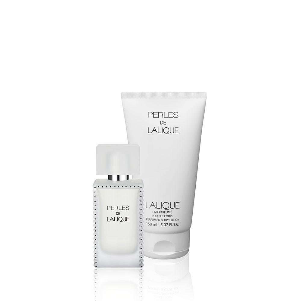 PERLES DE LALIQUE Gift Set | 50 ml (1.7 Fl. Oz.) Natural Spray Eau de Parfum and 150 ml (5.07 Fl. Oz.) Perfumed Body Lotion | Lalique Parfums