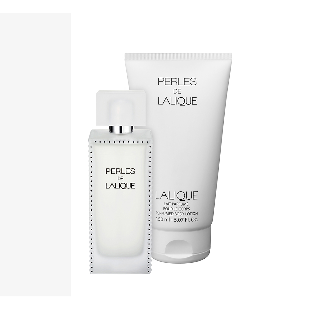 PERLES DE LALIQUE Gift Set | 100 ml (3.3 Fl. Oz.) Natural Spray Eau de Parfum and 150 ml (5 Fl. Oz.) Perfumed Body Lotion | Lalique Parfums