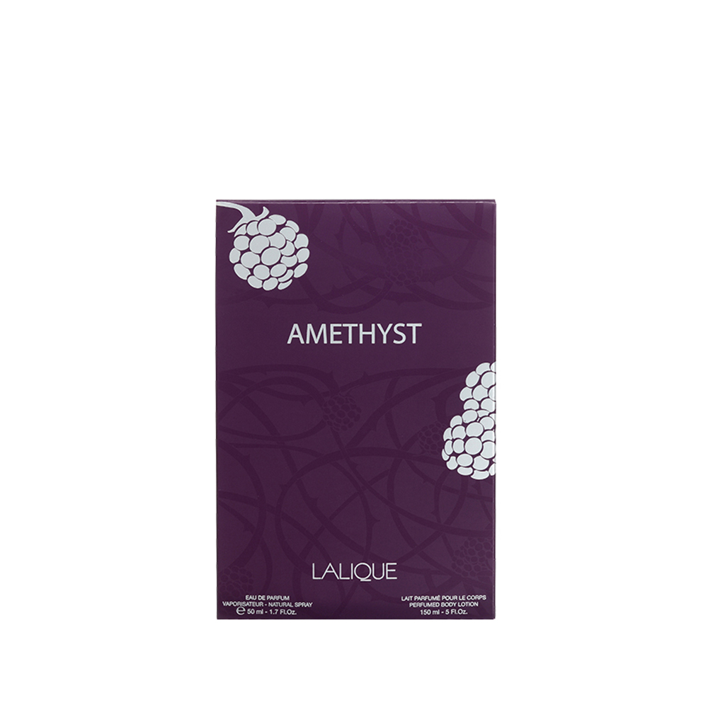 AMETHYST Gift Set | 50 ml (1.7 Fl. Oz.) Natural Spray Eau de Parfum and 150 ml (5.07 Fl. Oz.) Perfumed Body Lotion | Lalique Parfums