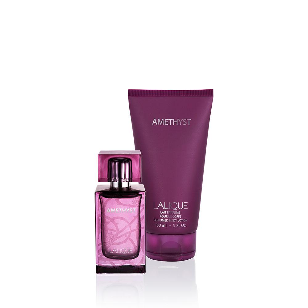 AMETHYST Gift Set | 50 ml (1.7 Fl. Oz.) Natural Spray Eau de Parfum and 150 ml (5.07 Fl. Oz.) Perfumed Body Lotion | Lalique Parfums