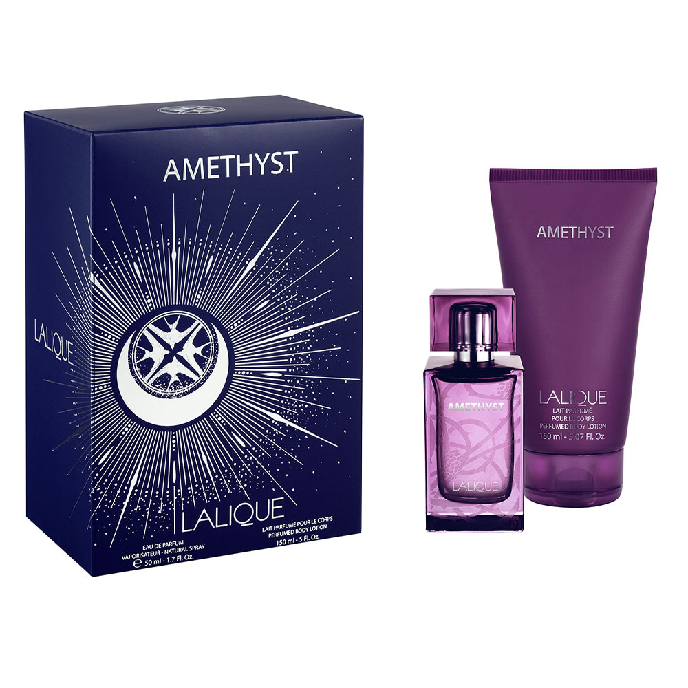 AMETHYST Gift Set | 50 ml (1.7 Fl. Oz.) Natural Spray Eau de Parfum and 150 ml (5 Fl. Oz.) Perfumed Body Lotion | Lalique Parfums