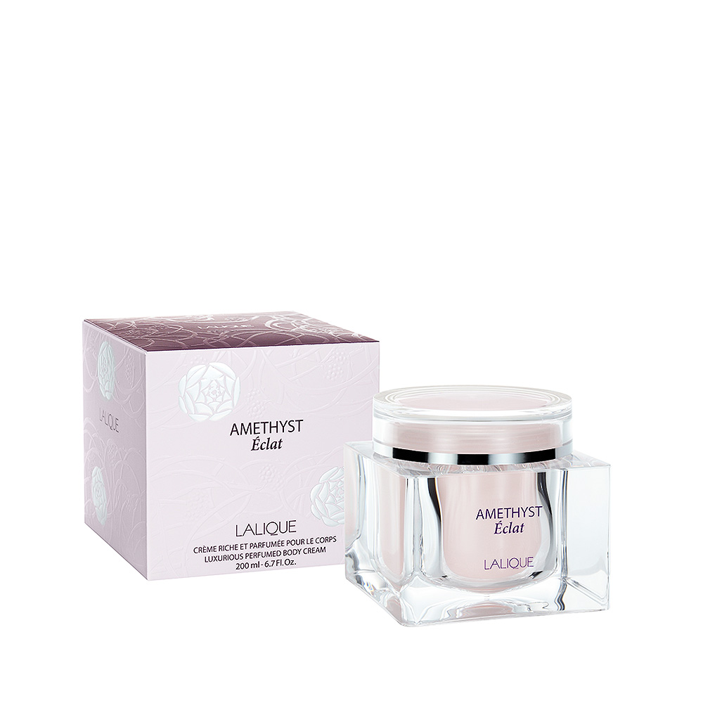 AMETHYST ÉCLAT Perfumed Body Cream | 6.7 Fl. Oz Jar (200 ml) | Lalique Parfums