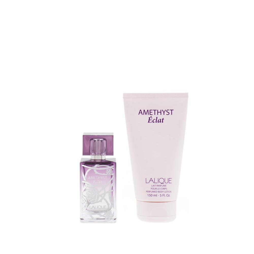 AMETHYST ÉCLAT Gift Set | 50 ml (1.7 Fl. Oz.) Natural Spray Eau de Parfum and 150 ml (5 Fl. Oz.) Perfumed Body Lotion | Lalique Parfums