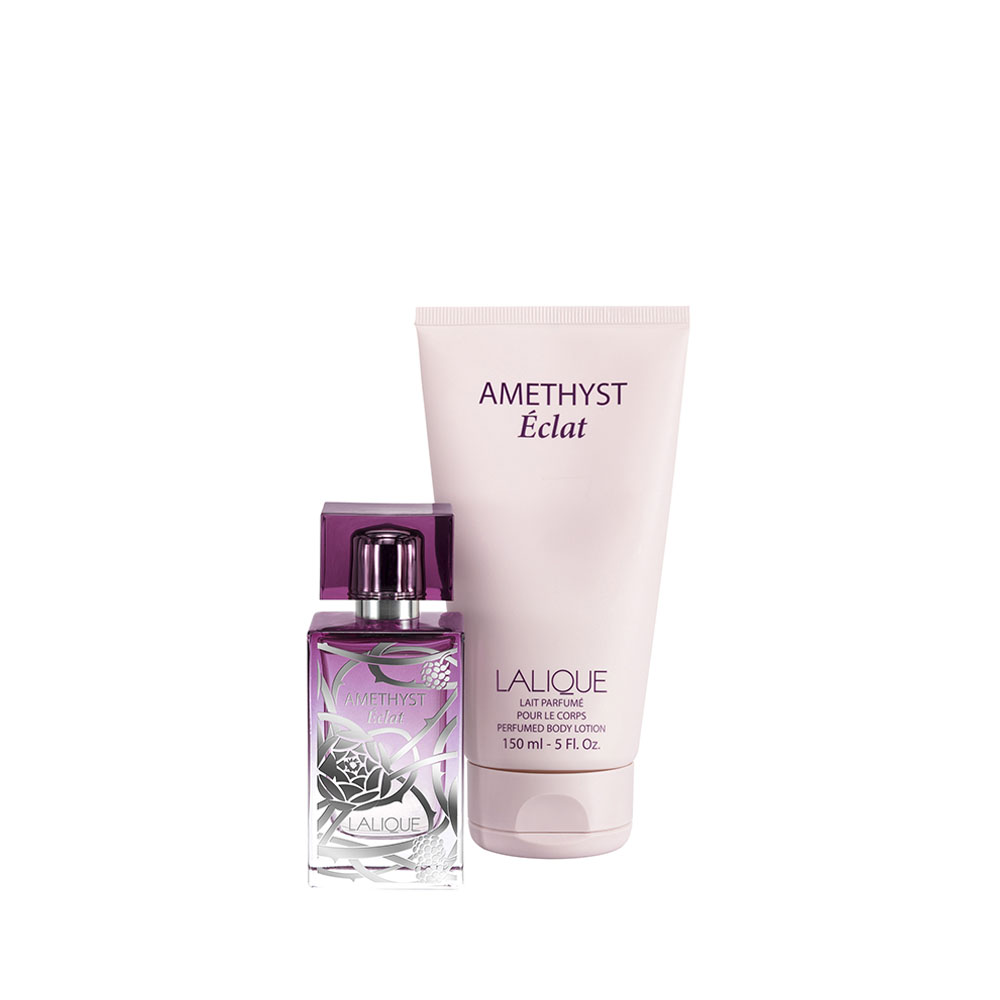 AMETHYST ÉCLAT Gift Set | 50 ml (1.7 Fl. Oz.) Natural Spray Eau de Parfum and 150 ml (5 Fl. Oz.) Perfumed Body Lotion | Lalique Parfums