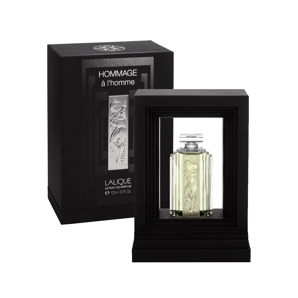 HOMMAGE À L'HOMME Crystal Flacon | Extrait de Parfum, 100 ml (3.3 Fl. Oz.) | Lalique Parfums