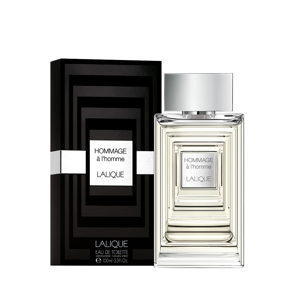 HOMMAGE À L'HOMME Eau de Toilette | 100 ml (3.3 Fl. Oz.) Natural Spray | Lalique Parfums