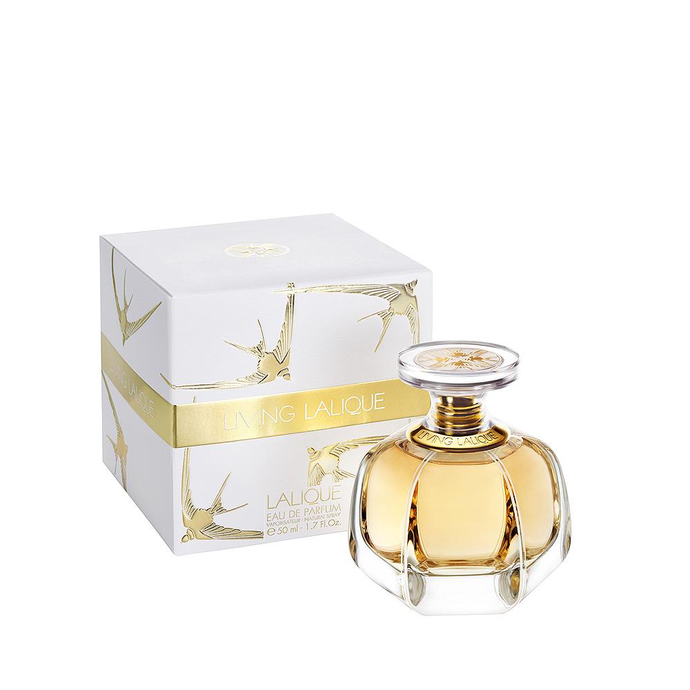 LIVING LALIQUE Eau de Parfum | 50 ml (1.7 Fl. Oz.) Natural Spray | Lalique Parfums