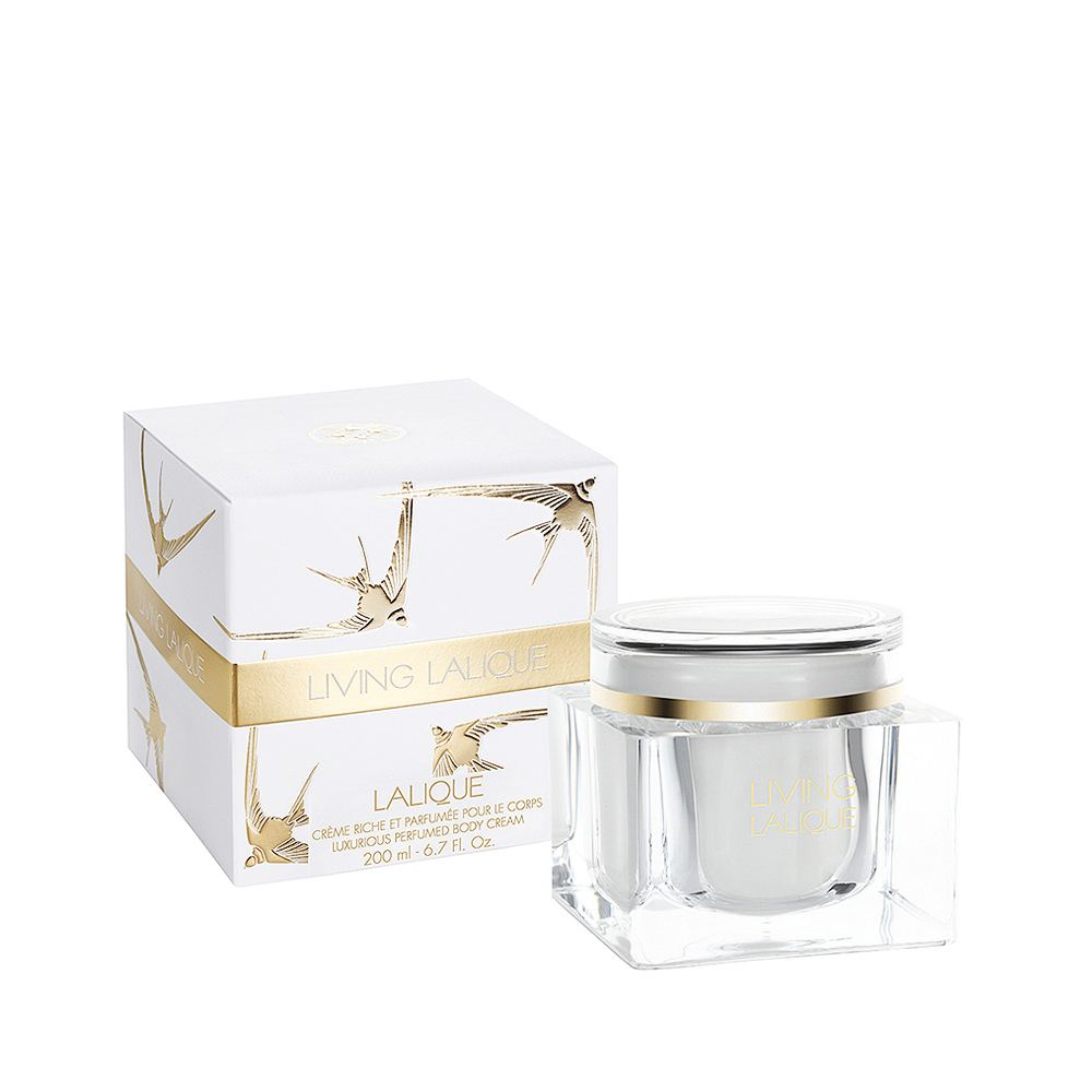 LIVING LALIQUE Perfumed Body Cream | 6.7 Fl. Oz Jar (200 ml) | Lalique Parfums