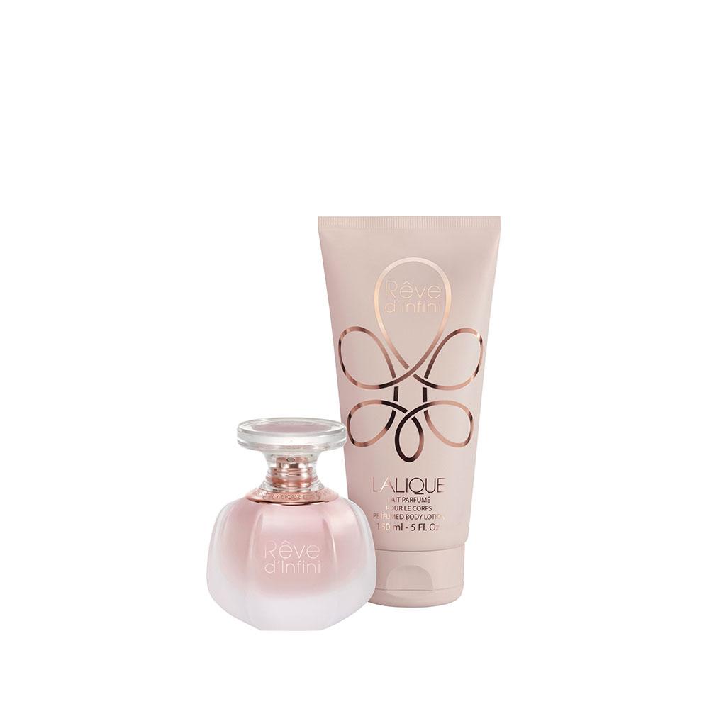 RÊVE D'INFINI Gift Set | 50 ml (1.7 Fl. Oz.) Natural Spray Eau de Parfum and 150 ml (5 Fl. Oz.) Perfumed Body Lotion | Lalique Parfums