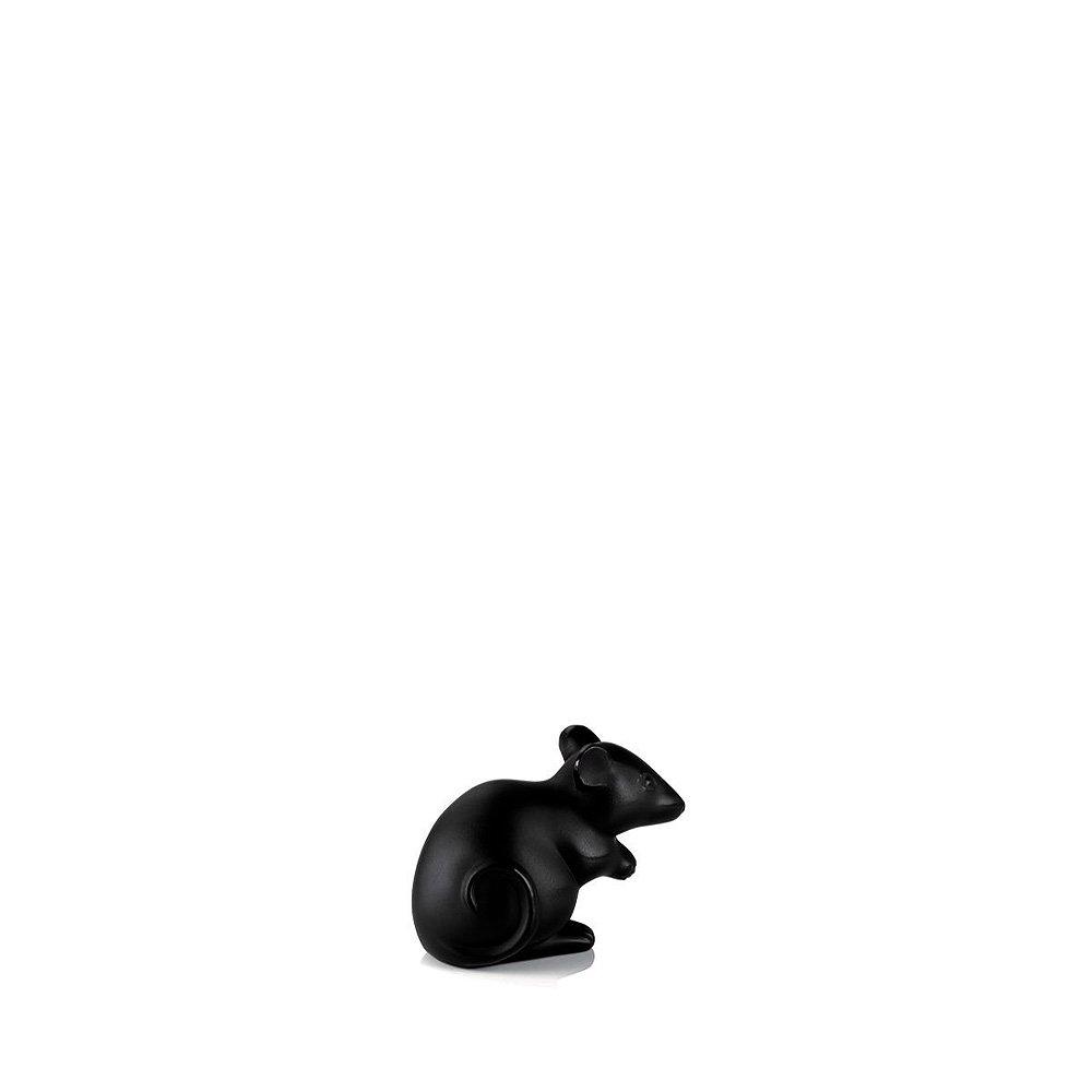 Mouse sculpture   Black crystal   Sculpture Lalique
