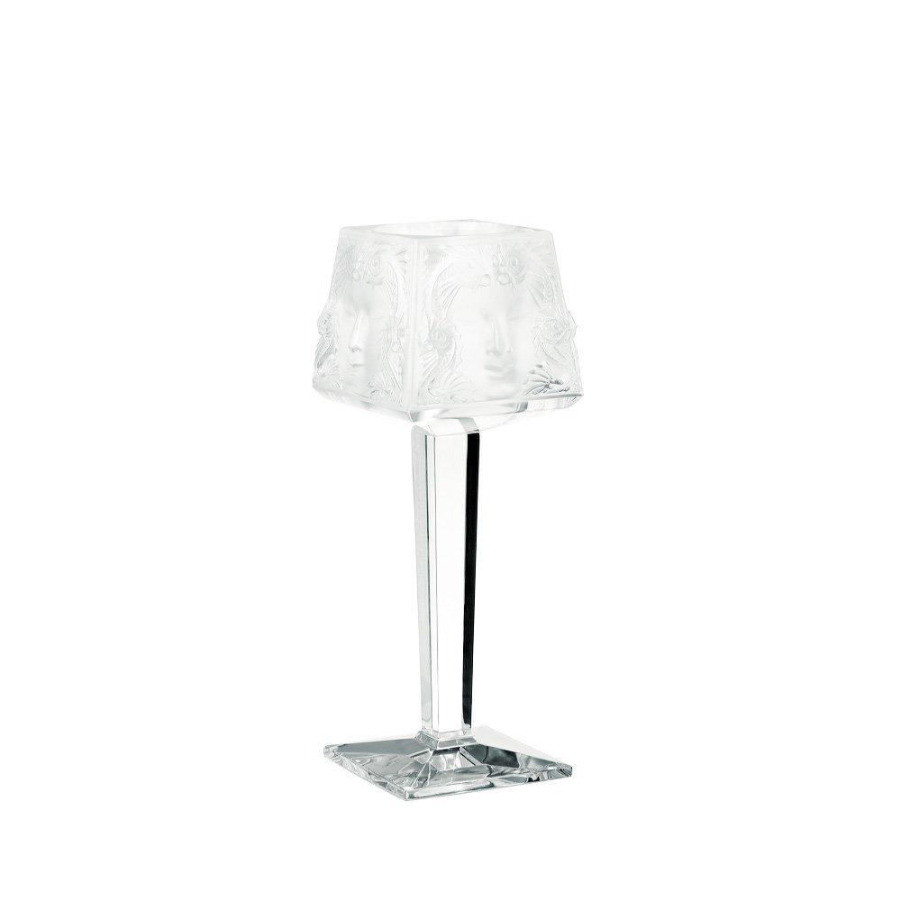 Masque de Femme on foot votive | Clear crystal | Candleholder & votive Lalique