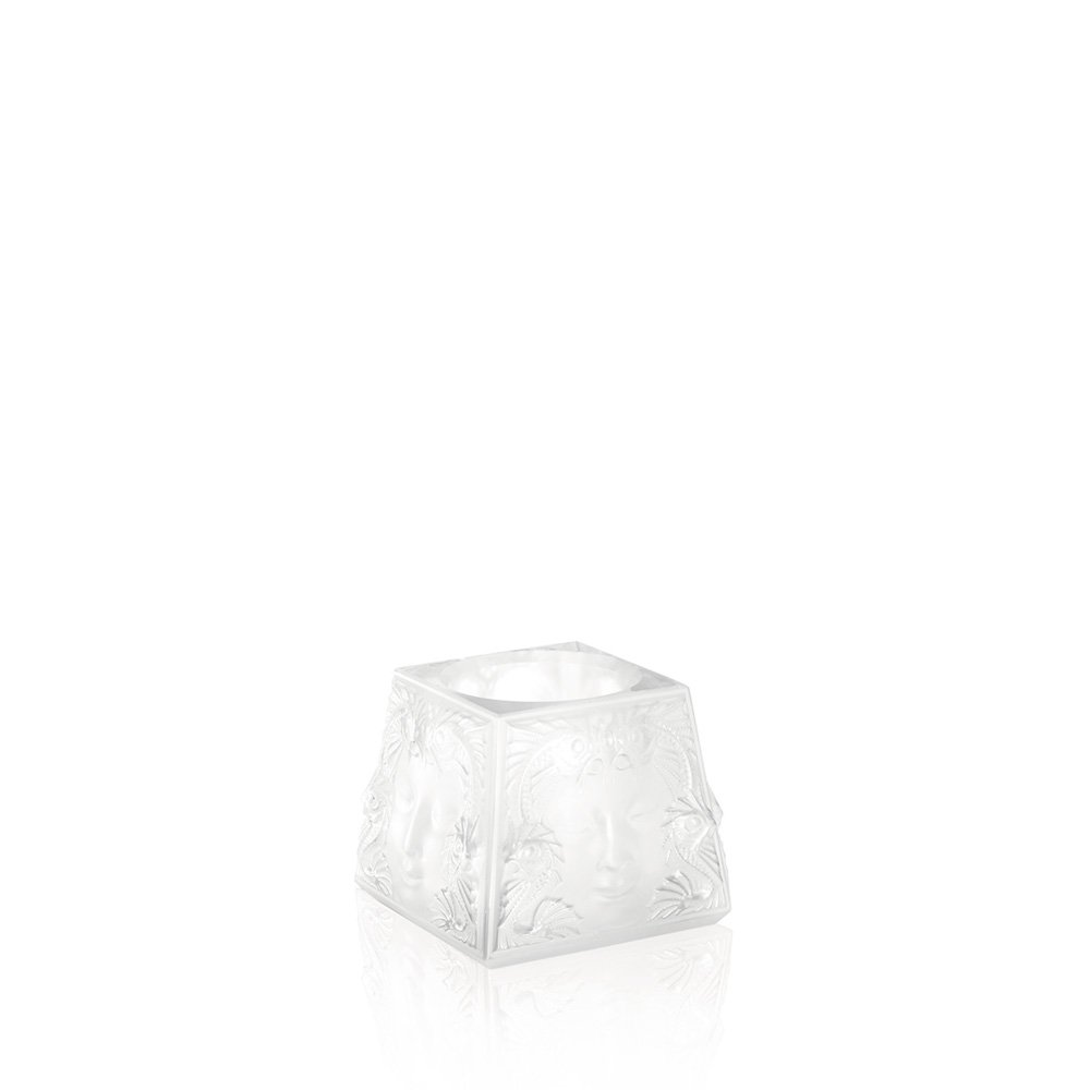 Masque de Femme votive | Clear crystal | Candleholder & votive Lalique