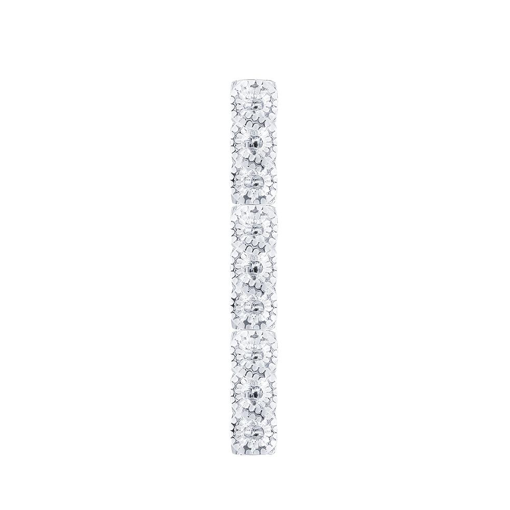 Séville light ramp | Clear crystal, chrome finish (3 crystals) | Interior Design Lalique