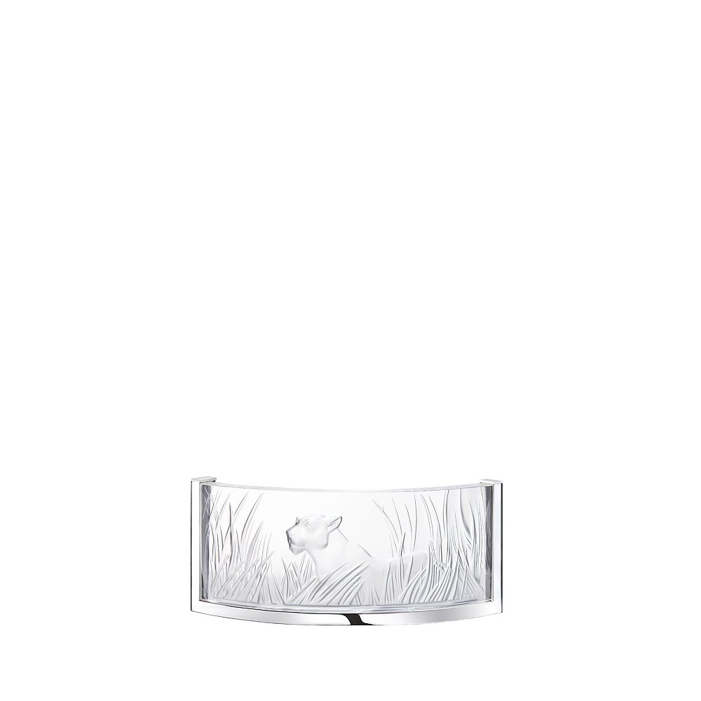 Kora Cristalight wall sconce | Clear crystal, chrome finish | Interior Design Lalique