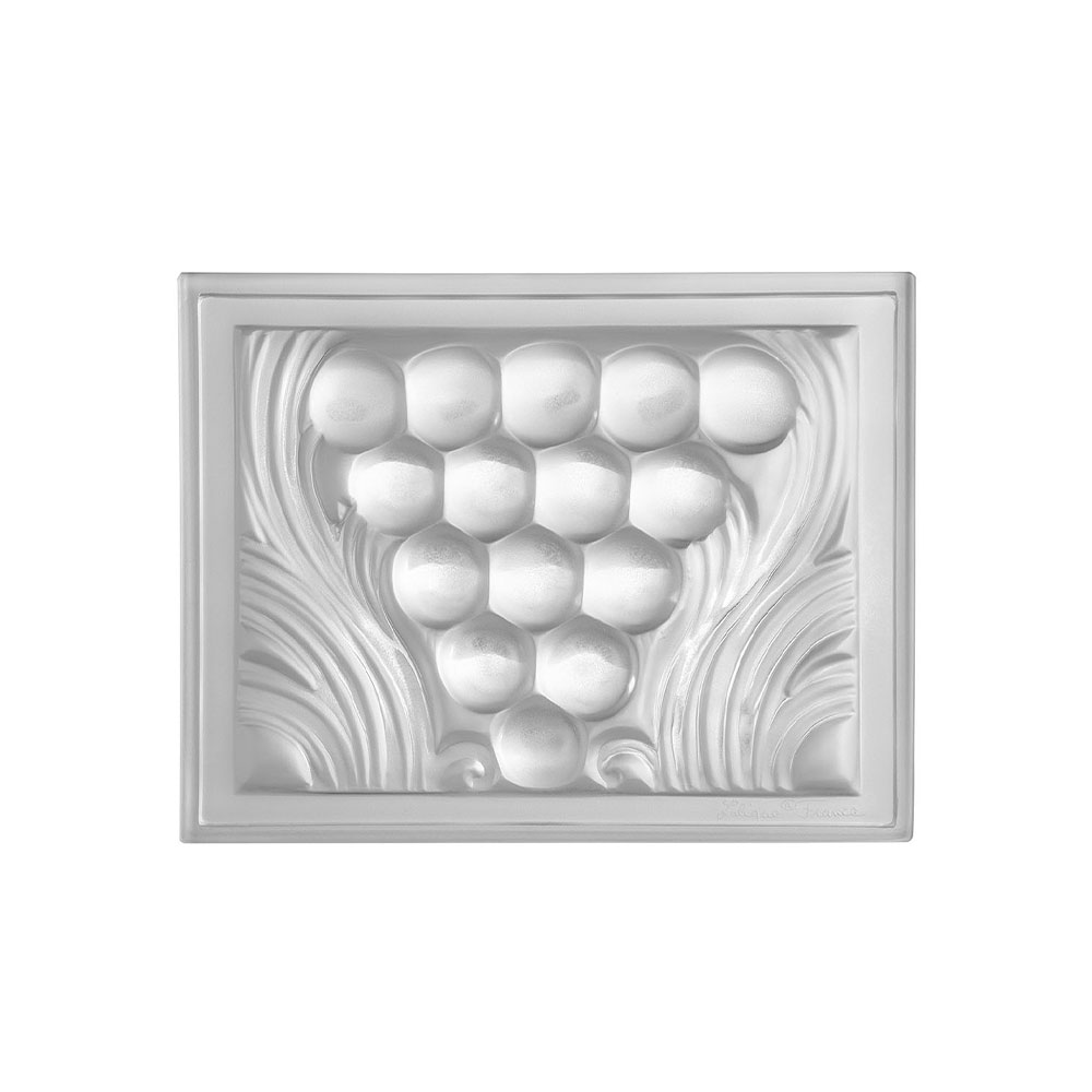 Raisins decorative panel   Clear crystal   Interior Design Lalique