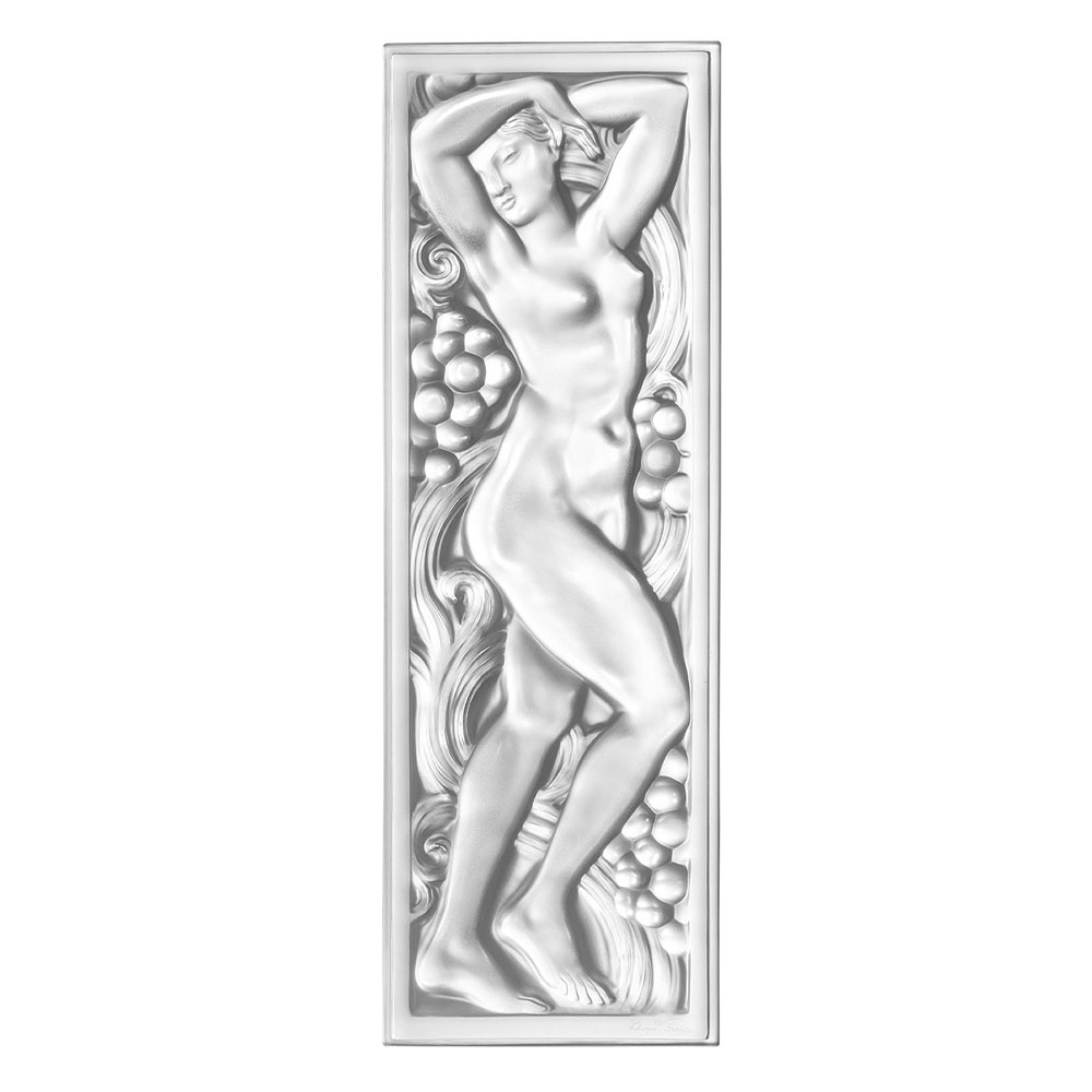 Femme Bras Levés decorative panel | Clear crystal | Interior Design Lalique