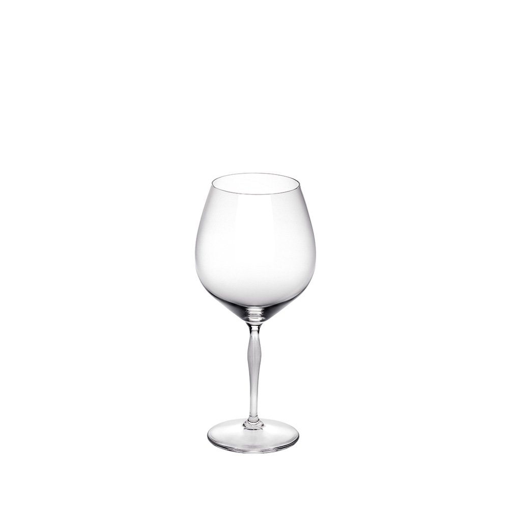100 POINTS Burgundy glass | 100 POINTS by James Suckling, clear crystal | Glass Lalique