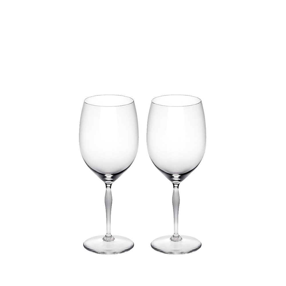 Set of 2 Bordeaux glasses 100 POINTS | 100 POINTS by James Suckling, clear crystal | Glass Lalique