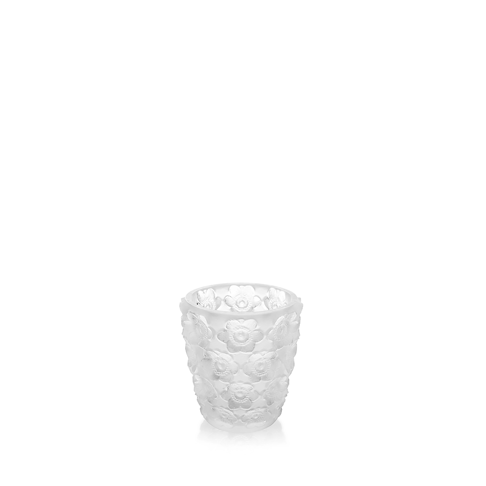 Anemones votive   Clear crystal   Lalique crystal votive