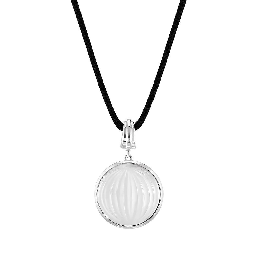 Vibrante pendant   Clear crystal, silver   Costume jewellery Lalique