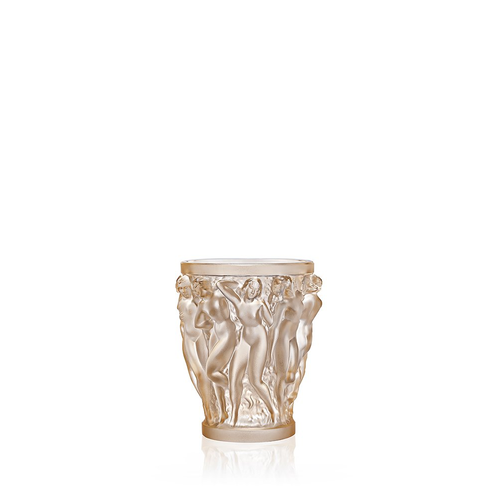 Bacchantes vase | Gold luster crystal, small size | Vase Lalique