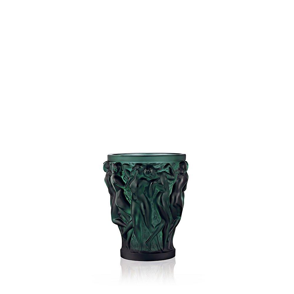 Bacchantes vase | Deep green crystal, small size | Vase Lalique