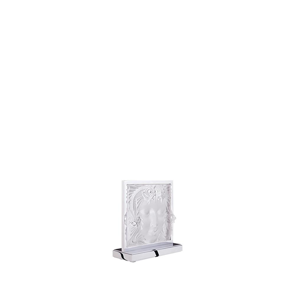Masque de Femme lamp   Clear crystal, chrome finish   Lamp Lalique