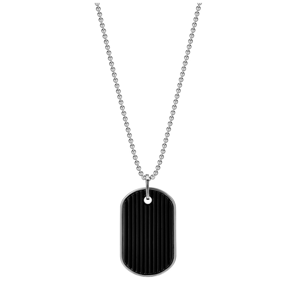 L'Homme Alpha Pendant | Black crystal, silver | Costume jewellery Lalique