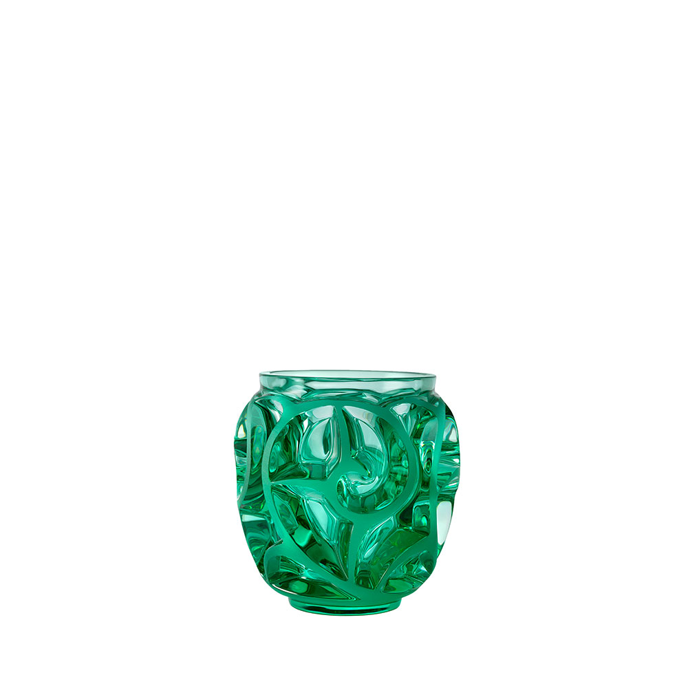 Tourbillons vase | Mint crystal, small size | Vase Lalique