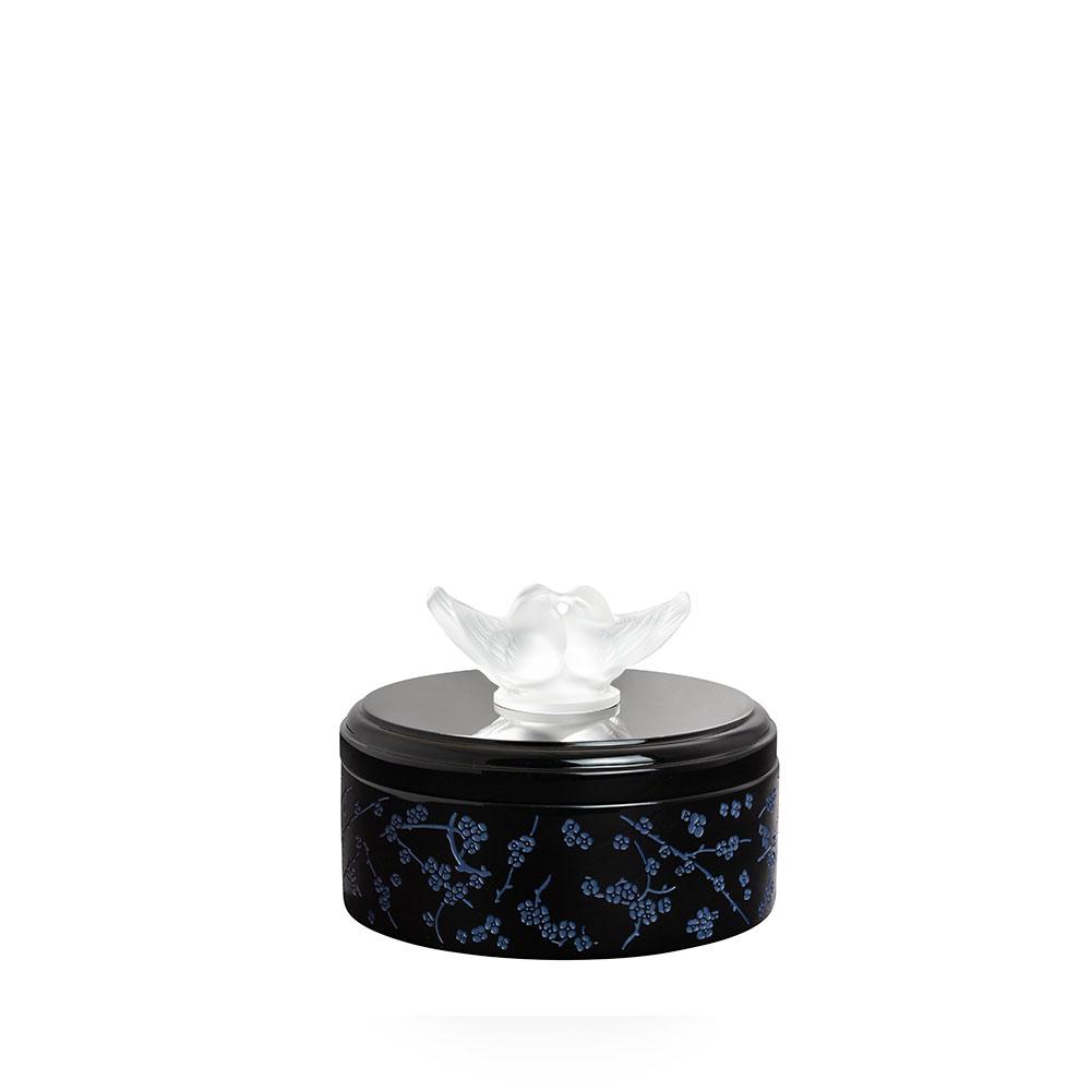 Fleurs de Cerisier lacquered wood box | Clear crystal, Small Size | Box Lalique