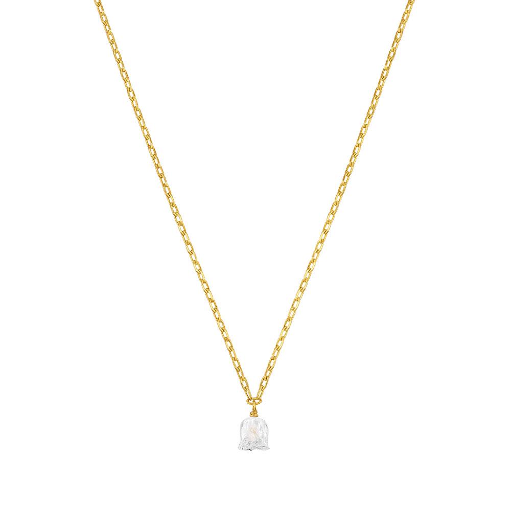 Muguet Necklace | Clear crystal, Vermeil | Costume jewellery Lalique