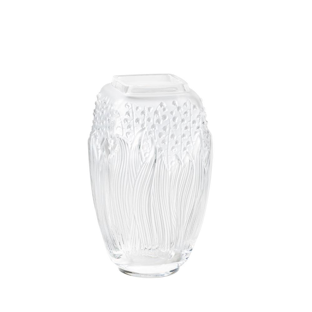 Muguet Vase   Clear crystal   Lalique Vase
