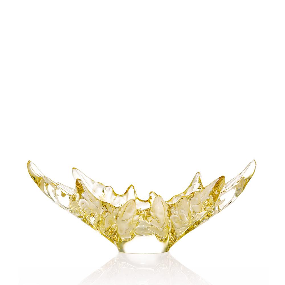 Champs-Élysées bowl   Gold luster crystal   Bowl Lalique